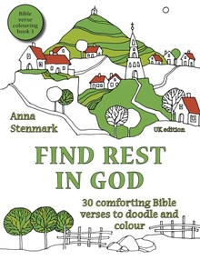 Find rest in God - Bible verse colouring book