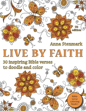 Live by faith - Bible verse coloring book