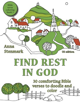 Find rest in God - Bible verse coloring book