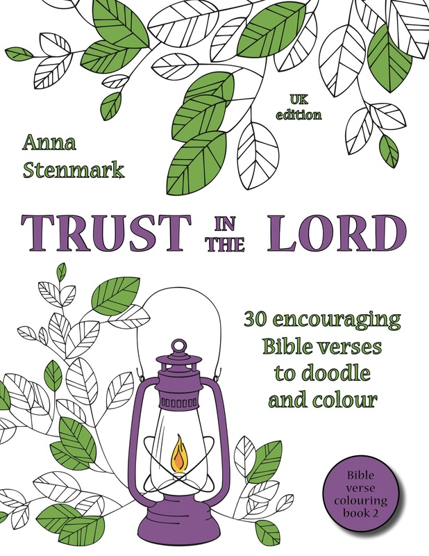 Trust in the Lord - Bible verse colouring book