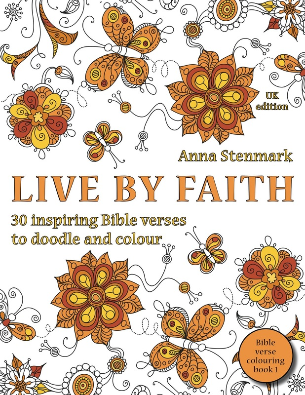 Live by faith - Bible verse colouring book